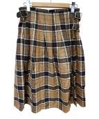 ONEIL OF DUBLIN(オニール オブ ダブリン)の古着「ロングキルトスカート」|ベージュ×ブラック