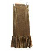 AMERI(アメリ)の古着「マーメイドギャザースカート」|ゴールド