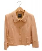 FOXEY(フォクシー)の古着「アンティークボックスジャケット」|ピーチベージュ