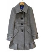 BURBERRY BLUE LABEL(バーバリーブルーレーベル)の古着「アンゴラ混ウールコート」|グレー