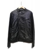 BEAMS(ビームス)の古着「レザーライダースジャケット」 ブラック