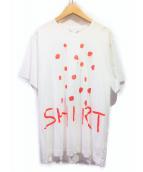 COMME des GARCONS SHIRT(コムデギャルソンシャツ)の古着「SHIRT MULTICOLOR MARY HEILMANN」|ホワイト×レッド