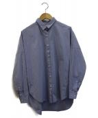 upper hights(アッパーハイツ)の古着「ドロップショルダーワイドシャツ」|ブルー
