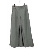 Whim Gazette(ウィムガゼット)の古着「リネン混ロングスカート」|オリーブ