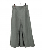 Whim Gazette(ウィムガゼット)の古着「リネン混ロングスカート」 オリーブ