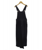 SLOBE IENA(イエナスローブ)の古着「フレアジャンパーデニムスカート」|ブラック