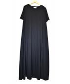 UNITED ARROWS(ユナイテッドアローズ)の古着「カットソーマキシワンピース」|ブラック