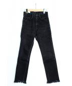 FUMIKA UCHIDA(フミカ ウチダ)の古着「HIGH WAIST DENIM SLIM PT」|ブラック