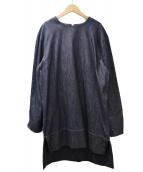MARNI(マルニ)の古着「デニム切替ワンピース」|ネイビー
