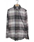 Black Fleece(ブラックフリース)の古着「ボタンダウンシャツ」|グレー×ホワイト