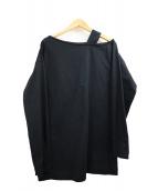H BEAUTY&YOUTH(エイチ ビューティアンドユース)の古着「ワンショルダーロングスリーブプルオーバー」|ブラック