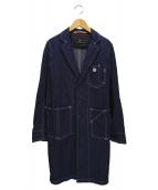SCYEBASICS(サイベーシックス)の古着「セルビッチグレーデニムワークコート」|インディゴ