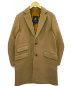 Drawer(ドゥロワー)の古着「メルトンウールチェスターコート」|ベージュ