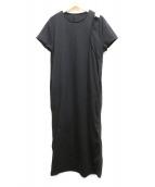 ELENDEEK(エレンディーク)の古着「レイヤードライクジャージーワンピース」|ブラック