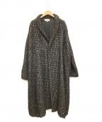 Vlas Blomme(ヴラスブラム)の古着「ツイードコート」|ブラック