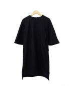 YOKO CHAN(ヨーコチャン)の古着「フレアスリーブワンピース」|ブラック