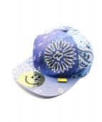 KAPITAL(キャピタル)の古着「バンダナパッチワークキャップ」|ブルー