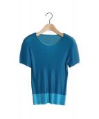 PLEATS PLEASE(プリーツプリーズ)の古着「プリーツブラウス」|ブルー