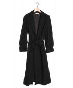 CASA FLINE(カーサフライン)の古着「ロングウールコート」 ブラック