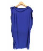 LANVIN en Bleu(ランバンオンブル)の古着「フリルスリーブワンピース」|ブルー