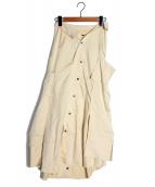 IRENE(アイレネ)の古着「The shirt pressed Skirt」|アイボリー