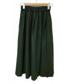 SACRA(サクラ)の古着「ウールナイロンクレープスカート」|グリーン