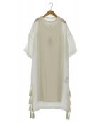 UN3D.(アンスリード)の古着「メッシュレイヤードワンピース」|ホワイト