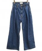 PHEENY(フィーニー)の古着「11ozルーズデニムパンツ」 ブルー