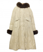 Harrods(ハロッズ)の古着「ファー付ダウンコート」|ベージュ