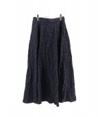 PLAIN PEOPLE(プレインピープル)の古着「ドット刺繍ロングスカート」|ブラック