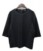 JOSEPH(ジョセフ)の古着「ステッチワークジャージーカットソー」|ブラック