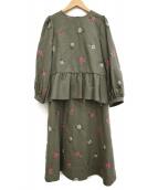nesessaire(ネセセア)の古着「Floretセットアップ」|オリーブ