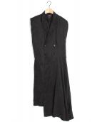 KETA GUTMANE(ケタ グットマン)の古着「VEST DRESS ワンピース」|ブラック