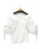 TOGA(トーガ)の古着「デザインブラウス」 ホワイト