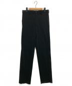 YOHJI YAMAMOTO COSTUME DHOMME(ヨウジヤマモトコスチュームドオム)の古着「ワイドテーパードスラックス」|ブラック