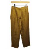 MM6(エムエムシックス)の古着「ワンタックリネンパンツ」 ブラウン