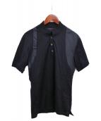ALEXANDER McQUEEN(アレキサンダーマックィーン)の古着「ベルトデザインポロシャツ」 ブラック