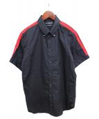 ALEXANDER McQUEEN(アレキサンダーマックィーン)の古着「半袖スタッズシャツ」 ブラック