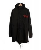 TEAM SATAN 666(チームサタン)の古着「モッズコート」|ブラック