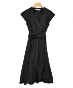 MARELLA(マレーラ)の古着「カシュクールブラウスワンピース」|ブラック