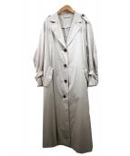 Mila Owen(ミラオーウェン)の古着「袖ボリュームコート」|ベージュ