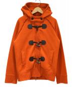 BURBERRY LONDON(バーバリーロンドン)の古着「ニットダッフルコート」|オレンジ