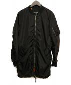 ALPHA INDUSTRIES(アルファ インダストリーズ)の古着「MA-1コート」|ブラック