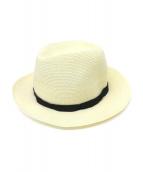 KIJIMA TAKAYUKI(キジマ タカユキ)の古着「PAPER BRAID RIBON BRIM HAT」|ベージュ