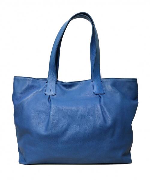 MANIUNO(マニウノ)MANIUNO (マニウノ) トートバッグ ブルー サイズ:採寸参考 参考定価¥59.000の古着・服飾アイテム