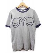 eYe COMME des GARCONS JUNYAWATANABE MAN(アイコムデギャルソンジュンヤワタナベマン)の古着「ロゴTシャツ」|グレー