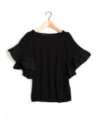 muller of yoshiokubo(ミュラーオブヨシオクボ)の古着「Layer Sleeve T-shirts」|ブラック