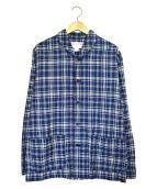 WORKERS(ワーカーズ)の古着「ショールカラージャケット」|ブルー×ベージュ