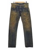 DENIM & SUPPLY RALPH LAUREN(デニムアンドサプライ ラルフローレン)の古着「ダメージデニムパンツ」|インディゴ