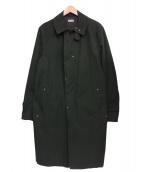 kolor/BEACON(カラービーコン)の古着「ワックスコーティングクロスステンカラーコート」|グリーン
